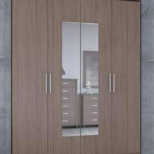 Ντουλάπα 4φυλλη με καθρέφτη
